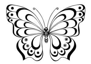 бесплатно детей бабочка раскраска для