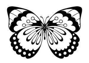 бесплатно детей раскраска бабочка рисунок для