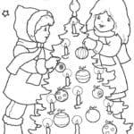 бесплатно детские раскраски новый год А4