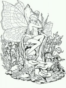 бесплатно девочек  бабочек раскраски для