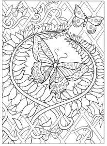 бесплатно девочек бабочки раскраски для
