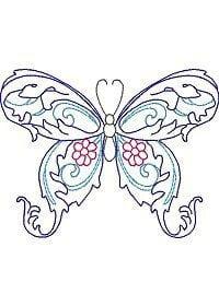бесплатно для детей бабочка картинка раскраска