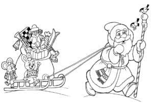 бесплатно для детей раскраска новый год А4