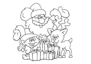 бесплатно для девочек про новый год раскраски А4