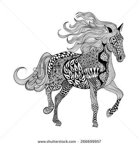 для взрослых лошади раскраски