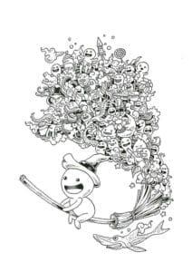 бесплатно дудлинг рисунок на тему