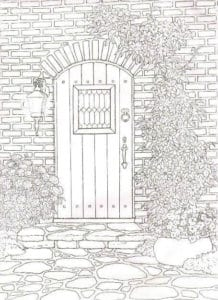 бесплатно дверь раскраска