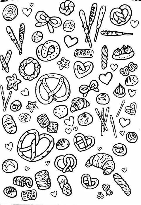 бесплатно еда раскраски антистресс 1