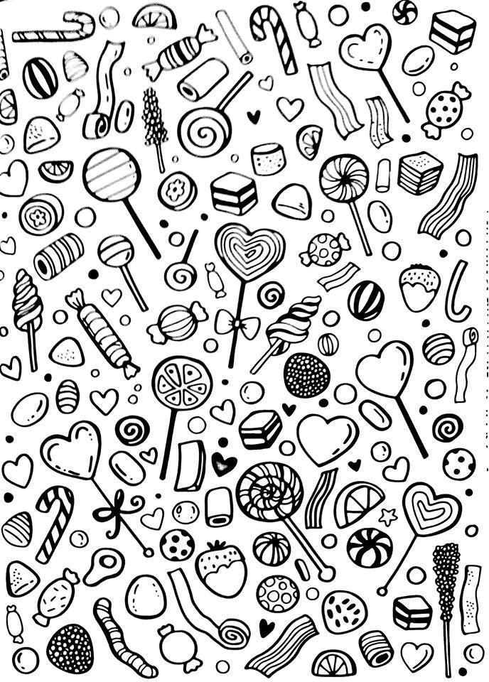 бесплатно еда раскраски для взрослых