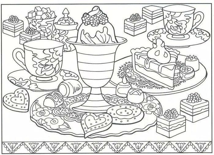 бесплатно еда в хорошем качестве раскраски антистресс