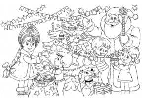 бесплатно елки на новый год раскраски А4