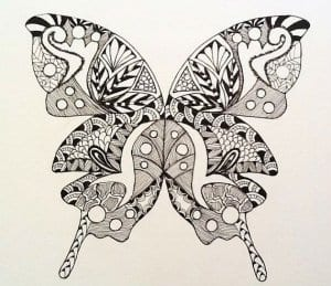 бесплатно фото раскраски бабочки