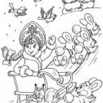 бесплатно год для детей раскраски про новый А4