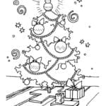 бесплатно год и рождество раскраски новый А4