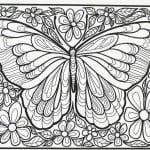 бесплатно года раскраски бабочки 4