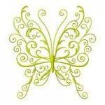 бесплатно картинка раскраска для детей бабочка