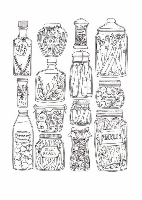 бесплатно картинки раскраски еда - Рисовака