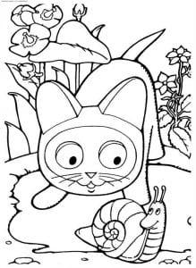 бесплатно котенок по имени гав картинки раскраски