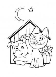 бесплатно котенок по имени гав раскраска распечатать