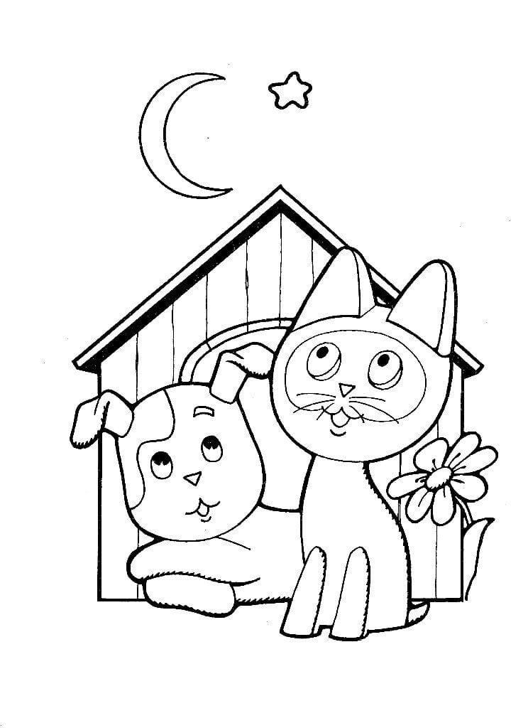 besplatno-kotenok-po-imeni-gav-raskraska бесплатно котенок по имени гав раскраска распечатать