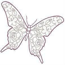 бесплатно крылья бабочки раскраска