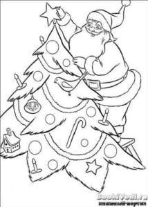 бесплатно лет новый год раскраски детям 4 5 А4