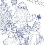 бесплатно малышей раскраска новый год А4