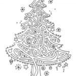 бесплатно на новый год раскраски елки А4