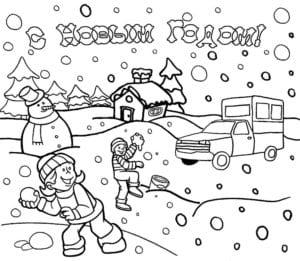 бесплатно на тему новый год раскраски А4