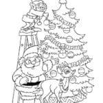 бесплатно нового года раскраска празднование А4