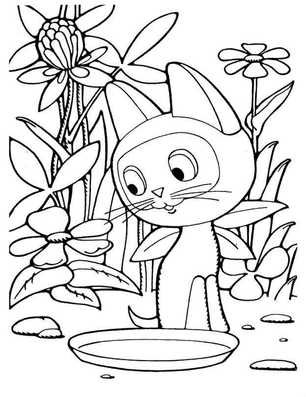 besplatno-po-imeni-gav-raskraska-raspechatat бесплатно по имени гав раскраска распечатать котенок