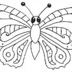 бесплатно про бабочек раскраски