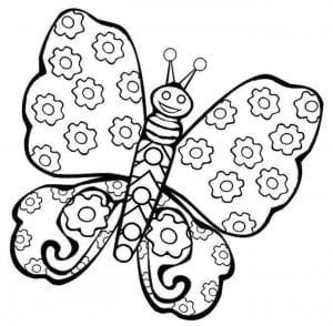 бесплатно раскраска антистресс бабочки распечатать