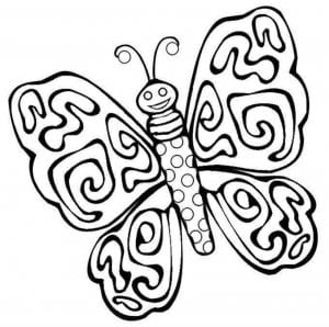 бесплатно раскраска бабочка большие