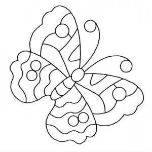 бесплатно раскраска бабочка