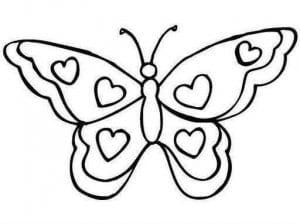 бесплатно раскраска бабочка черно белая