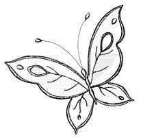 бесплатно раскраска бабочка для детей 5 лет
