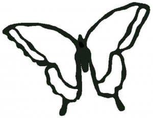 бесплатно раскраска бабочка для малышей