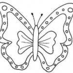 бесплатно раскраска бабочка распечатать для малышей