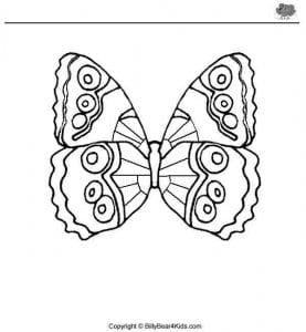 бесплатно раскраска бабочка рисунок для детей