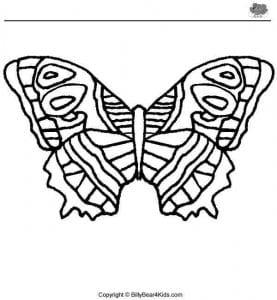 бесплатно раскраска бабочка рисунок