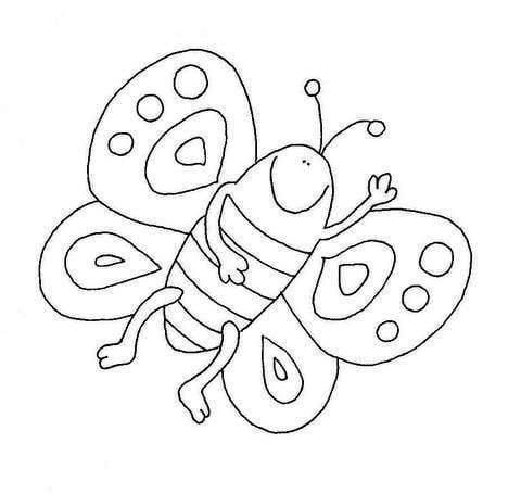 бесплатно раскраска бабочки для детей распечатать