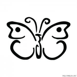 бесплатно  раскраска бабочки онлайн