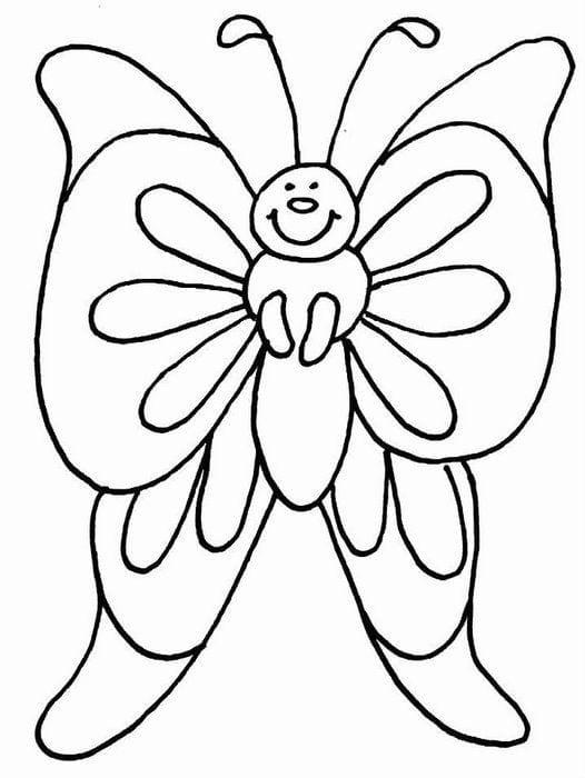 бесплатно раскраска для детей 2 3 лет бабочка рисовака