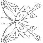 бесплатно раскраска для девочек бабочки распечатать