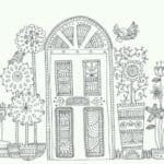 бесплатно раскраска дверь для детей