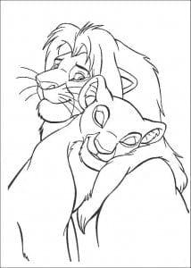 бесплатно раскраска король лев распечатать