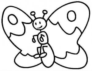 бесплатно раскраска маленькая бабочка