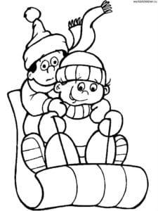 бесплатно раскраска новый год для детей А4