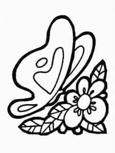 бесплатно раскраски детей 3 4 бабочки